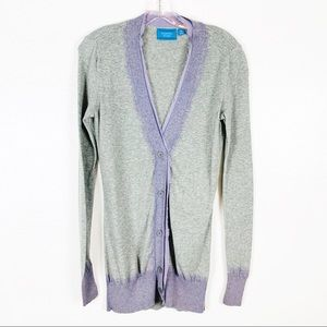 Simply Vera Wang Long Gray Cardigan Sweater XS
